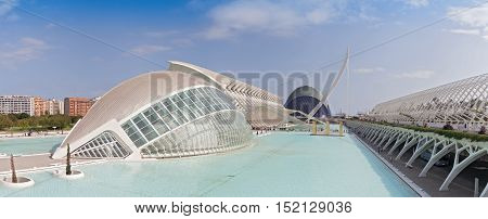 VALENCIA, SPAIN-OCTOBER 09, 2016: City of the Arts and Sciences in Valencia, Spain