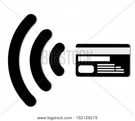 Internet shopping.Contactless credit card vector.Wifi Mobile Pay.Symbol card sign icon. Virtual money.Online shopping..