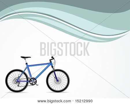 vector bicycle on background