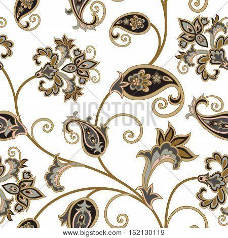 Floral Seamless Pattern. Flower Background. Floral Tile Ornament