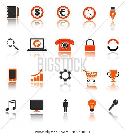 vector business icon collection