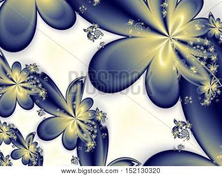Flower pattern in fractal design. Artwork for creative design art and entertainment.