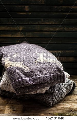 Comfortable And Soft Winter Background With Sweater