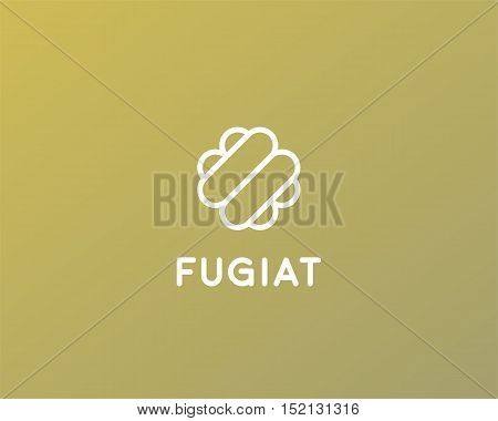 Abstract food logo design. Hot dog cake confectionery logotype vector symbol.