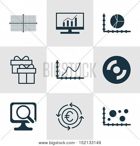 Set Of 9 Universal Editable Icons For Seo, Computer Hardware And Statistics Topics. Includes Icons S