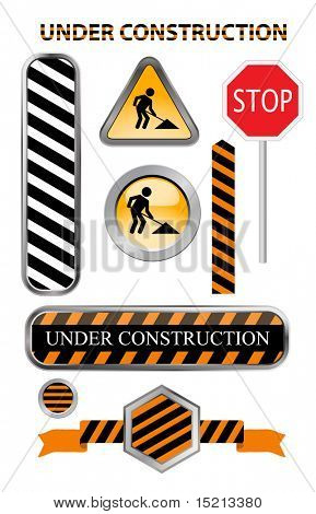 vector under construction icons  set