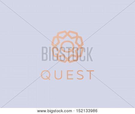 Premium letter Q logo icon vector design. Luxury jewelry frame gem edge logotype. Print monogram initials stamp sign symbol