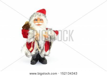 Father christmas figurine isolated on white background