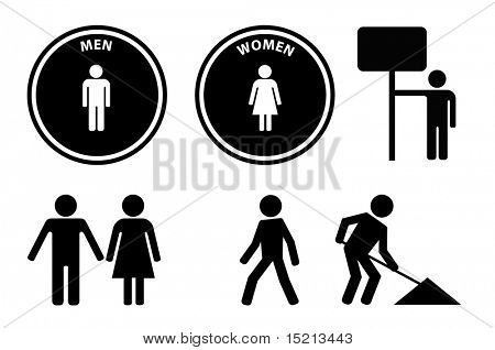 vector person signs and symbols