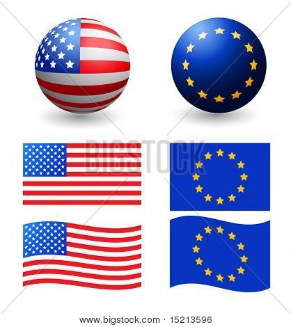 vector designed flags