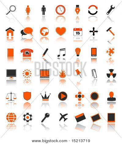 vector 42 web icons set
