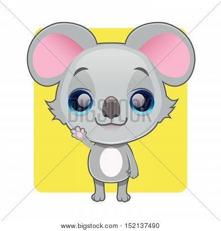 Cute koala illustration art with simple background