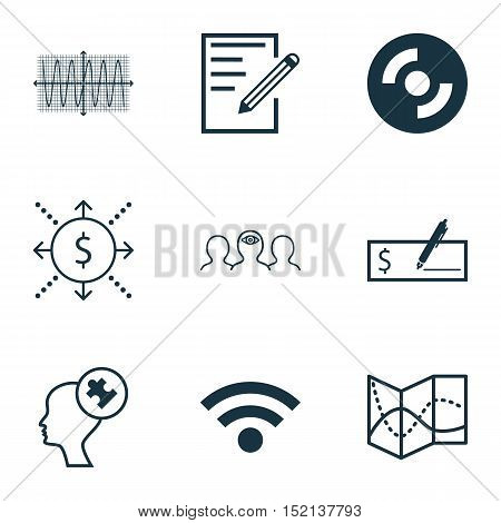 Set Of 9 Universal Editable Icons For Computer Hardware, Education And Human Resources Topics. Inclu