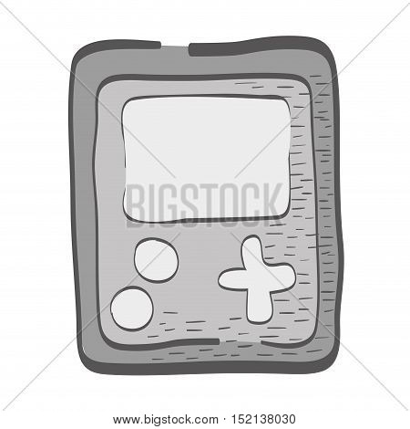 portable video game device over white background. vector illustration