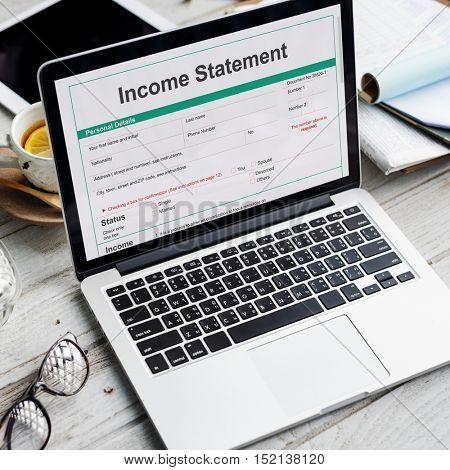 Income Statement Employment Assessment Balance Concept