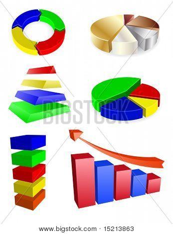 vector 3d diagrams set