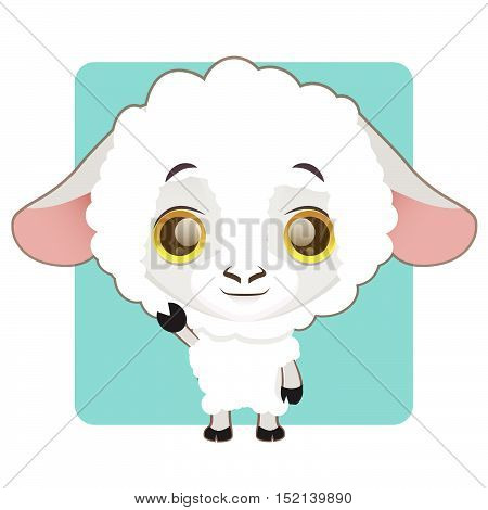 Cute sheep illustration art with simple background