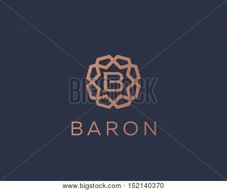 Premium letter B logo icon vector design. Luxury jewelry frame gem edge logotype. Print monogram initials stamp sign symbol