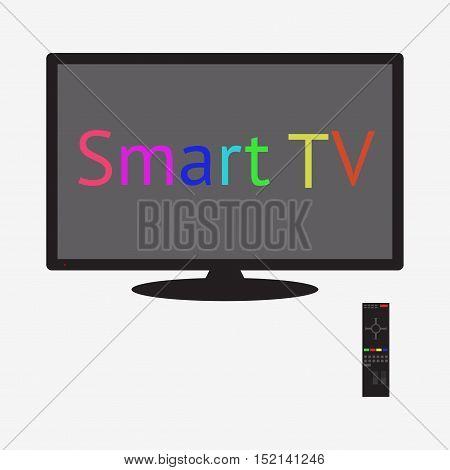 Lcd Tv Monitor, Vector Illustration.