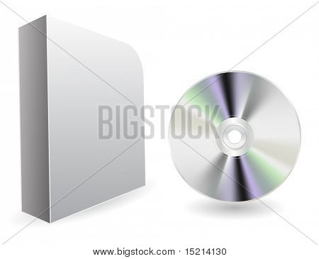 vector compact disc with box