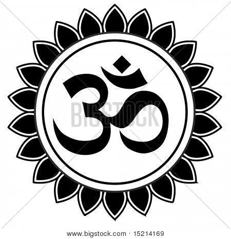 vector om sanskrit symbol