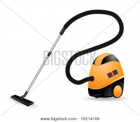 modern vacuum cleaner - vector
