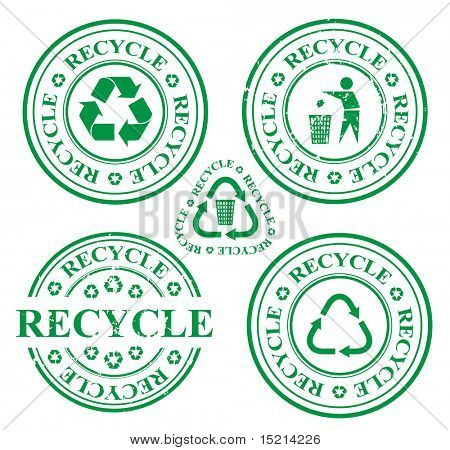 recycle stamp set. vector