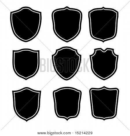 vector shield shape set