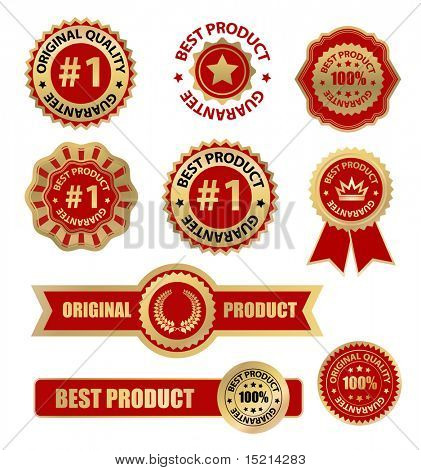 vector labels set - best product