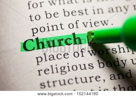Fake Dictionary definition of the word church.