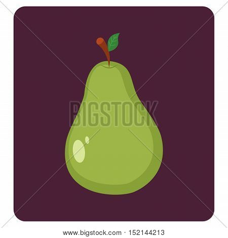 Pear icon illustration art on dark background