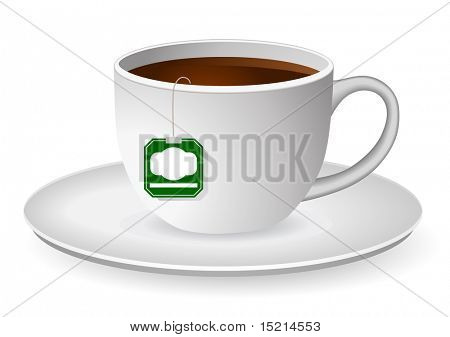 tea cup with tag