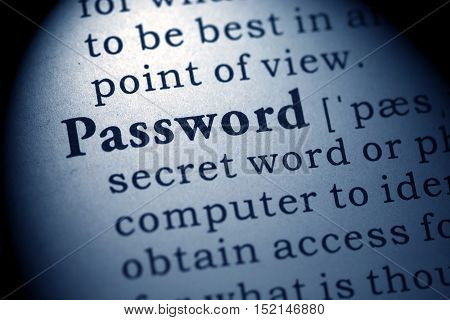 Fake Dictionary Dictionary definition of the word password.