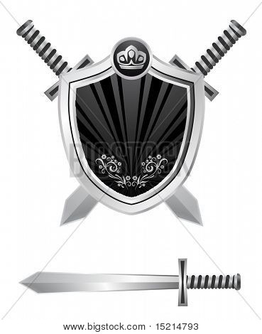 shield with swords design