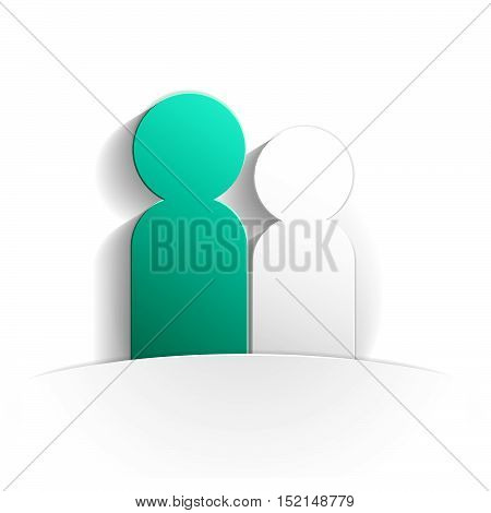 dialogue icon in paper style full vector