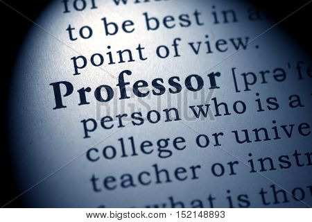 Fake Dictionary Dictionary definition of the word professor.