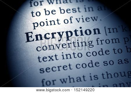 Fake Dictionary Dictionary definition of the word encryption.