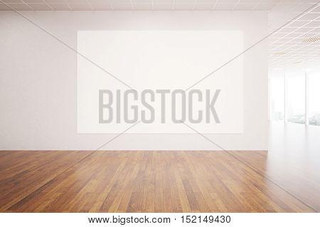 Unfurnished Interior With Billboard