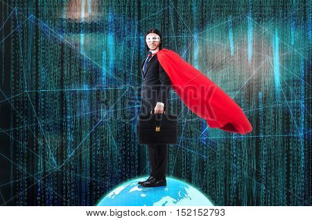 Man with superpowers ruling the world