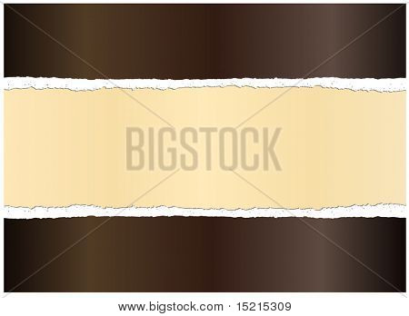 Ripped paper golden background