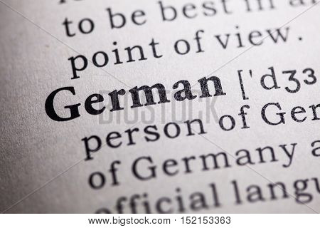 Fake Dictionary Dictionary definition of the word german.