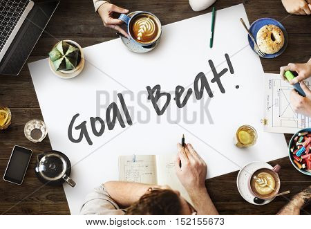 Goal Beat Aspiration Ambition Hopeful Aim Concept
