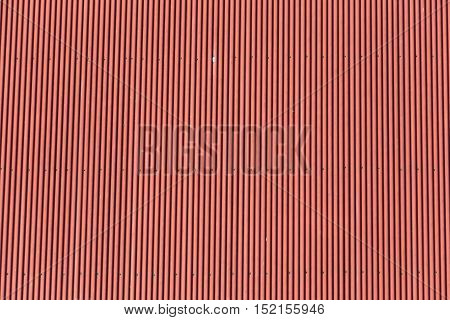 Red corrugated metal for design background use