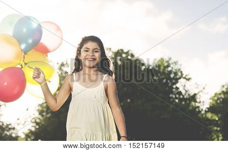 Balloon Activity Playing Recreation Funny Child Concept