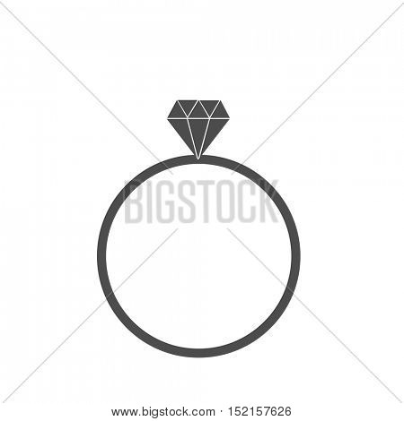 Diamond ring icon illustration on a white background