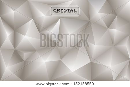 Abstract white diamond polygon background. Luxury low poly design. Vector illustration