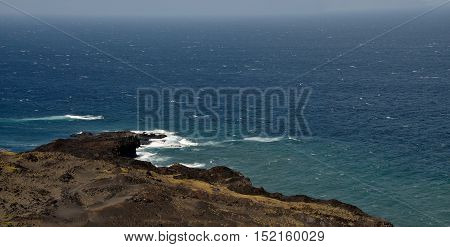 Waves On The Volcanic Peninsula In Salinas