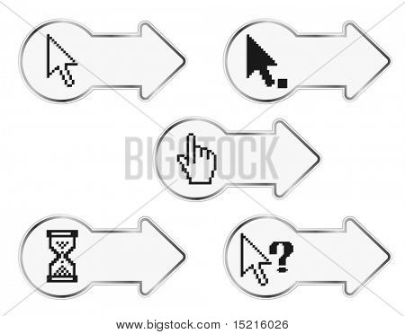 pixel cursor on arrow stickers