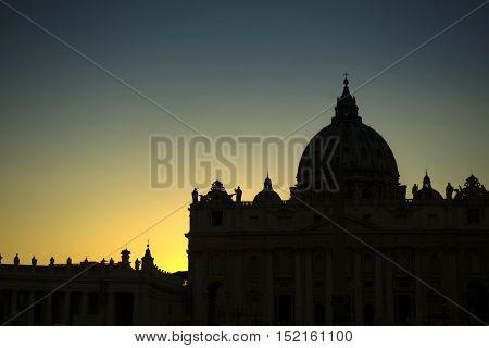 Vatican City At Sunset