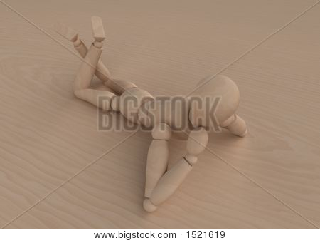 Mannequin Lying On Wood